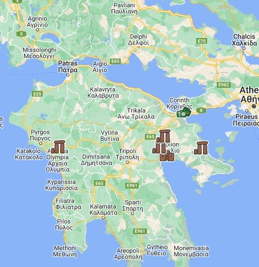 peloponez mapa Peloponez   Google My Maps peloponez mapa