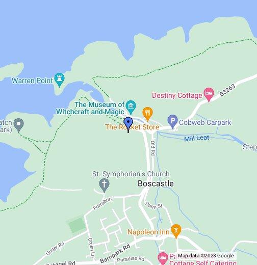 Map Of Boscastle Boscastle   Google My Maps