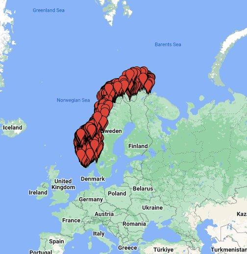 rasteplasser norge kart Odins Rasteplasser i Norge – Google My Maps rasteplasser norge kart