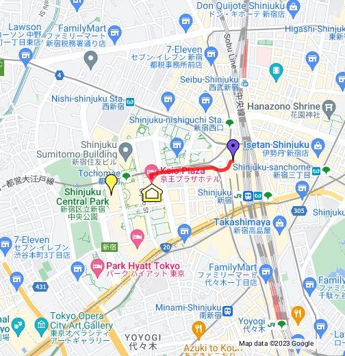 Keio Plaza Hotel Tokyo - Google My Maps