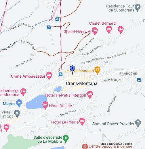 Crans - Montana - Aminona - Google My Maps