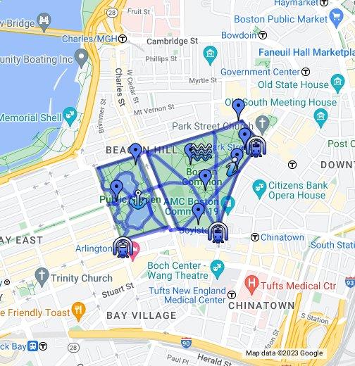 Downtown Boston Map Pdf.Walkboston Boston Common The Public Garden Google My Maps