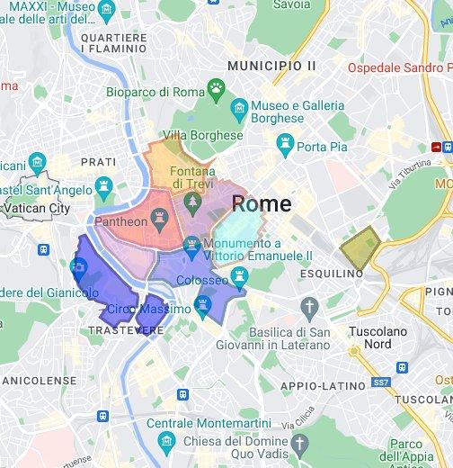 Cartina Ztl Roma.Ztl Diurna A Roma Google My Maps