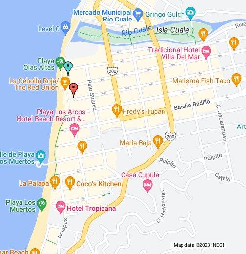 Puerto Vallarta Old Town Zona Romantica Google My Maps