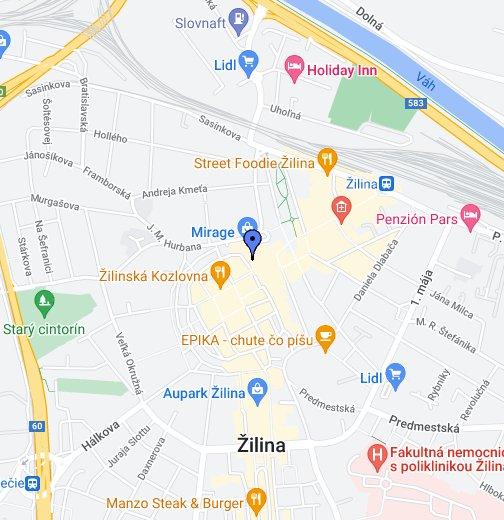 b6bf6fb904 OC MIRAGE Žilina – Moje mapy Google