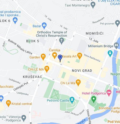 Podgorica Google My Maps