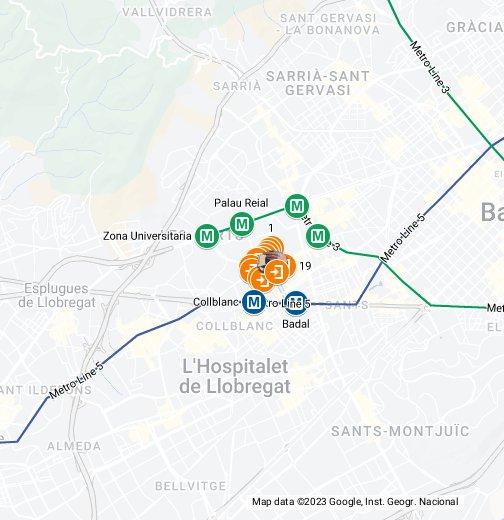 Carte Barcelone Camp Nou.Camp Nou Stadium Fc Barcelona Google My Maps