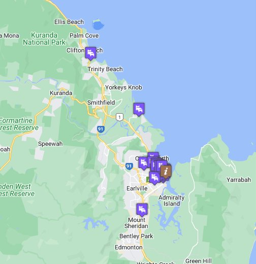 map of Cairns - Google My Maps