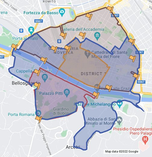 ZTL Driving Zones in Florence, Italy