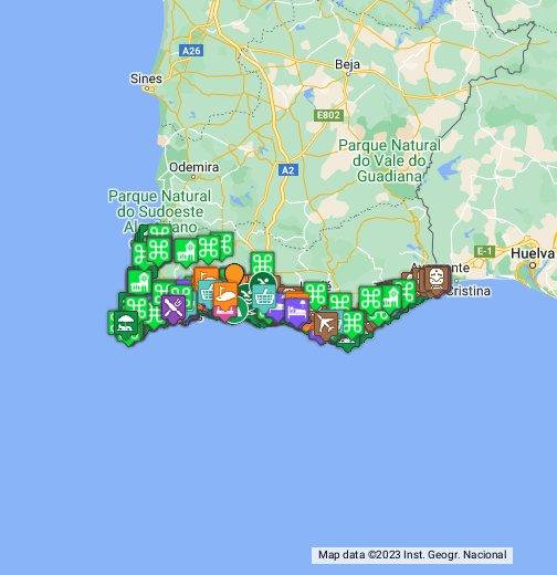 Map of Faro  The Algarve