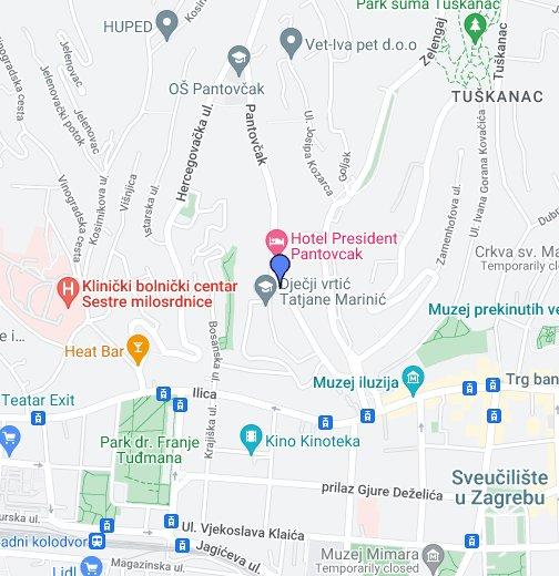 Pantovcak Ulica 42 Google My Maps