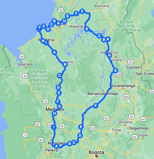 Ruta Manizales  Coveas