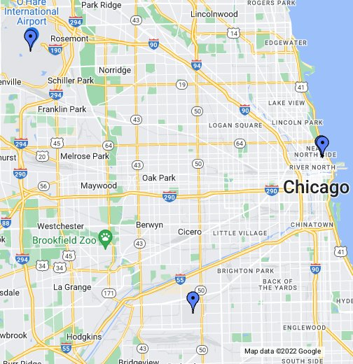 Where Is Midway Airport In Chicago On A Map Chicago Airports   Google My Maps