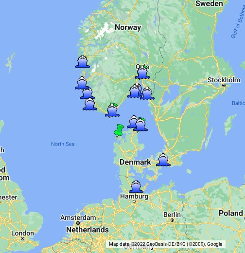 Ferry Services From Norway To European Ports - Norway map sandefjord