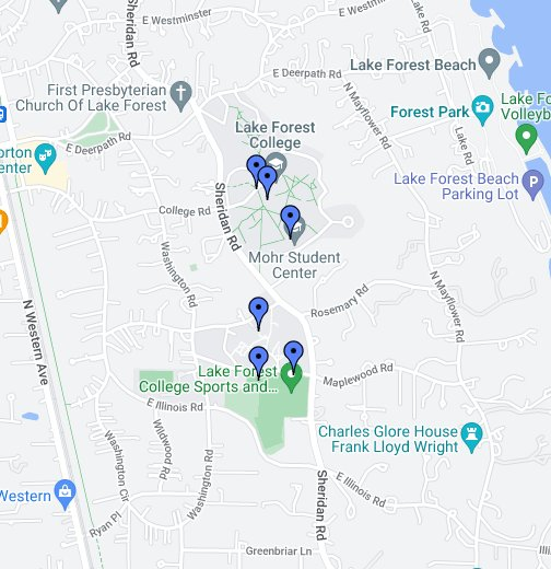 lake forest college campus map Ecc Lake Forest College Google My Maps lake forest college campus map