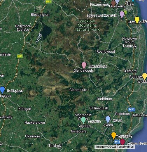 Co Wicklow, Ireland   Google My Maps