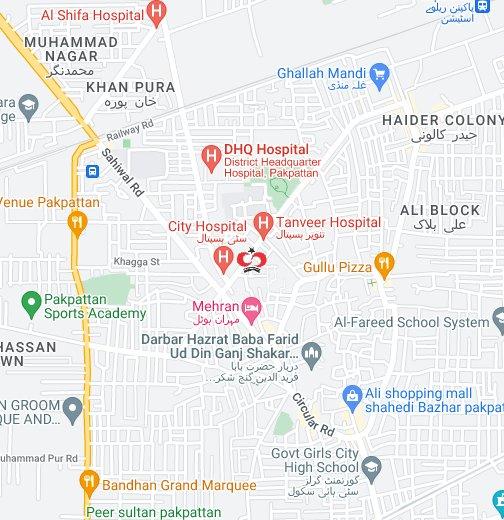 Shaukat Khanum Hospital Laboratory Collection Centre Pakpattan - Pakpattan map