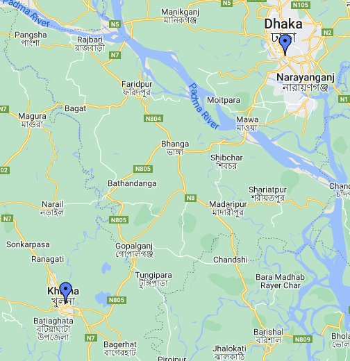Dhaka Vector map. EPS Illustrator Vector Maps of Asia Cities | Order ...