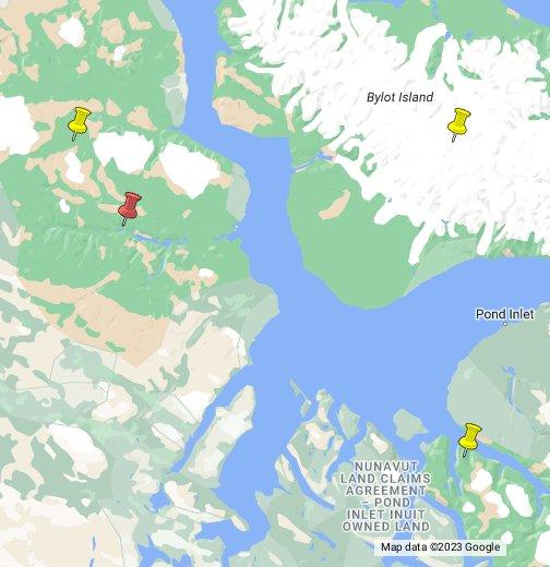 Sirmilik National Park of Canada - Google My Maps