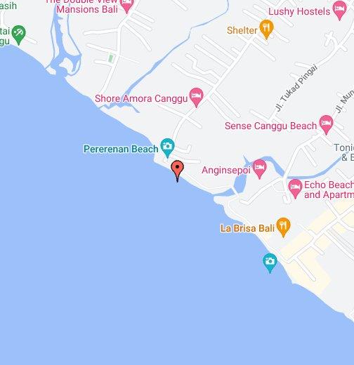 Bali Karte Canggu.Pererenan Beach Google My Maps