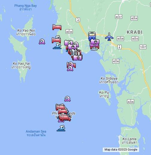 Krabi, Thailand – Google My Maps