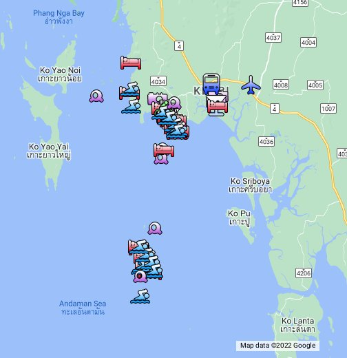 Map Of Krabi Krabi, Thailand   Google My Maps