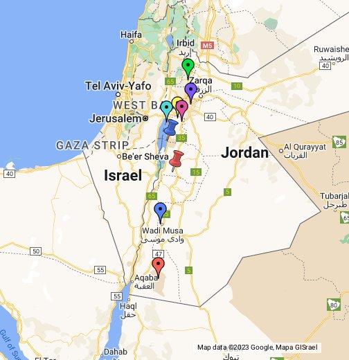 Cartina Giordania E Israele.Giordania Google My Maps