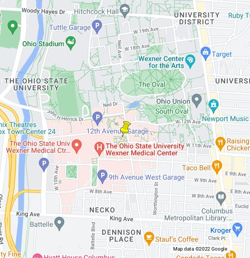 Ohio State University - Google My Maps on osu map columbus ohio, u of m campus map, ohio university map, columbus state community college campus map, osu smith lab map, osu medical center map, duke university campus map, mercer university main campus map, university of dayton campus map, ok state campus map, osu map.pdf, osu rv parking map, tiffin university campus map, ohio state map, university of michigan campus map,