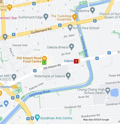 Map of sights around Dakota MRT Station Singapore