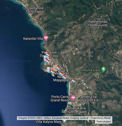 sitonija mapa satelit Neos Marmaras   Google My Maps sitonija mapa satelit