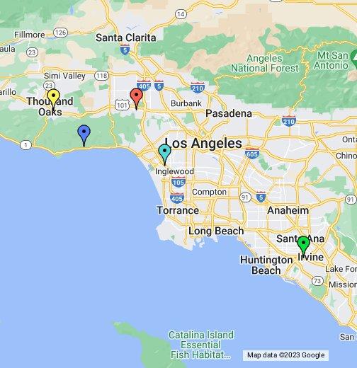 University California Map.Pepperdine University Campuses Google My Maps