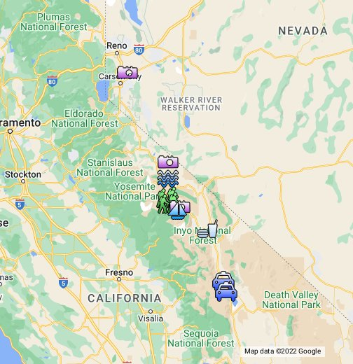 Road Trip: Historic Highway 395 - Google My Maps