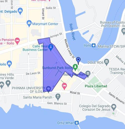 Calle Real Of Iloilo City - Iloilo city map