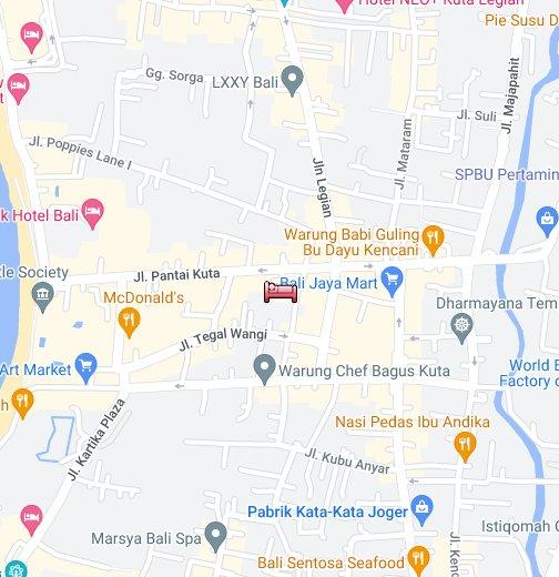 Kuta Beach Club Hotel Bali Google My Maps