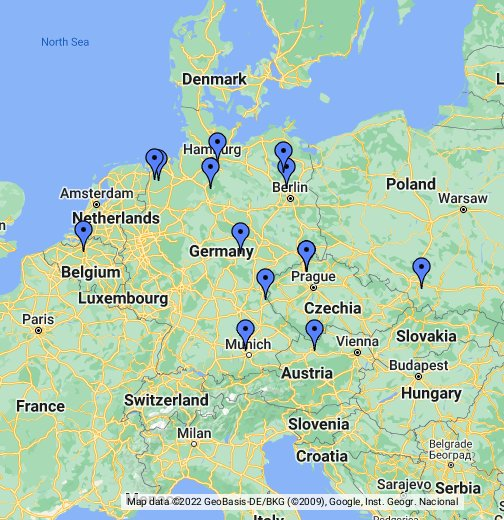 Concentration Camps In Germany Map Nazi Concentration Camps   Google My Maps
