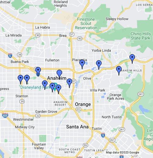 Anaheim Fire Department Station Map