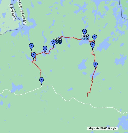 BWCA Entry Little Indian Sioux - Bwca entry point map