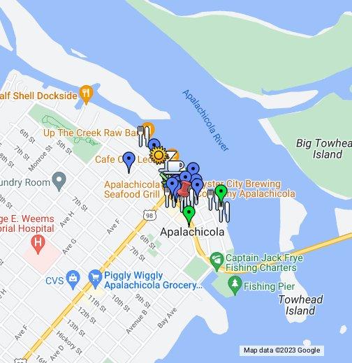Map Of Florida Bays.Apalachicola Florida Google My Maps