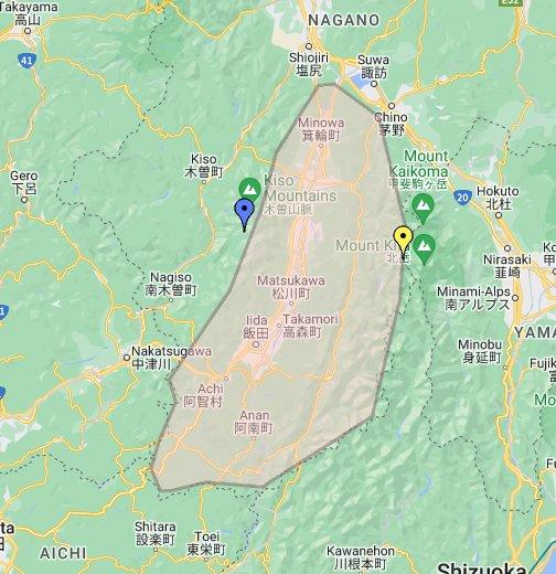 伊那谷てんこもり地図 - Google マイマップ