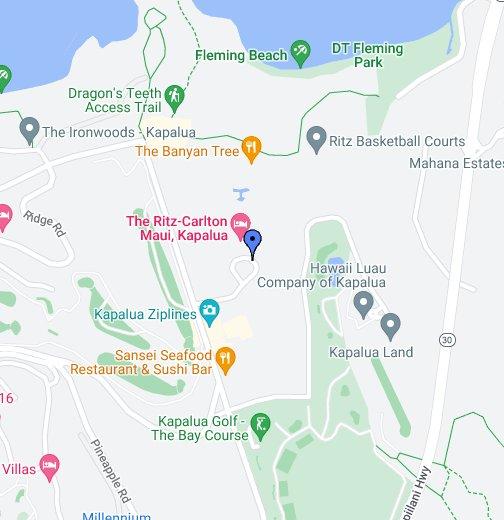 Kapalua Hawaii Map.The Ritz Carlton Kapalua Google My Maps