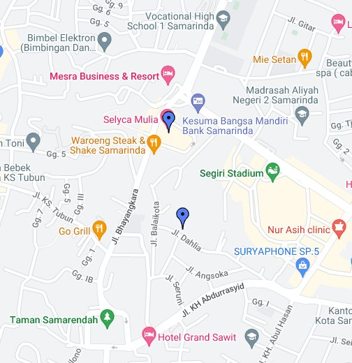 Samarinda - Google My Maps
