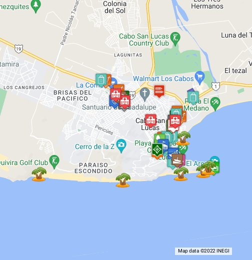 Cabo San Lucas - Google My Maps Cabo Map on