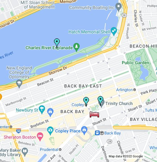 Map   Fairmont Copley Plaza Hotel Boston   Google My Maps