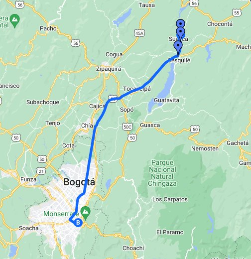 Suesca - Google My Maps