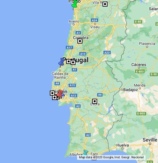 Portugal - Google My Maps