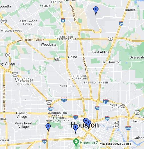 IAH George Bush Intercontinental ArptHouston Airport - Houston airport terminal map