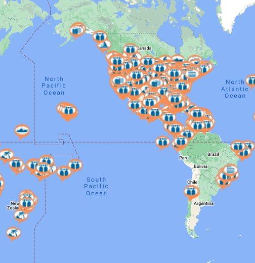 1st World Scuba Diving Map Google My Maps