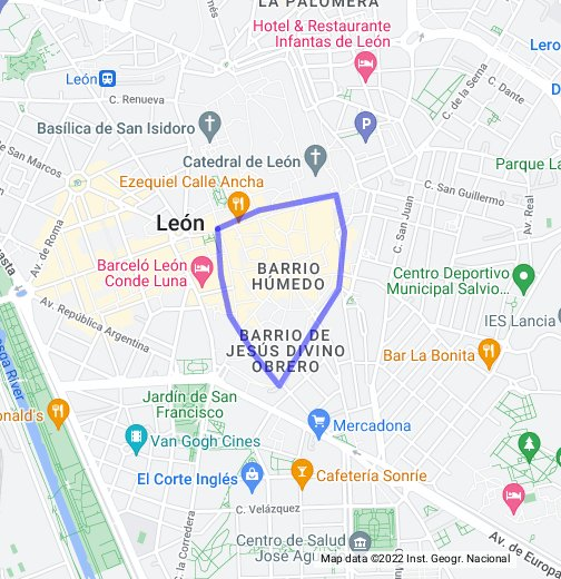 Barrio Humedo Leon Mapa.Barrio Humedo Leon Google My Maps
