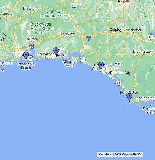 Florida Panhandle Map Google My Maps