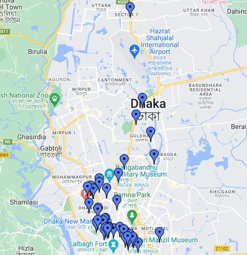 Dhaka - Google My Maps on